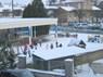 La récrée sous la neige....
